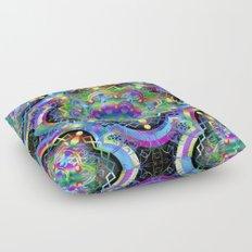 Mandala Psychedelic Art Design Floor Pillow
