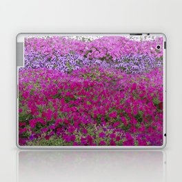 Waves of color on a sea of Petunias Laptop & iPad Skin