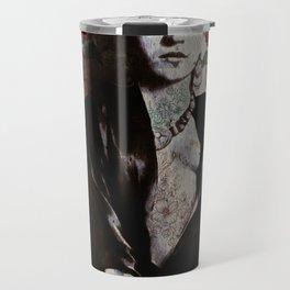 Frida Kahlo skulls and flowers Travel Mug