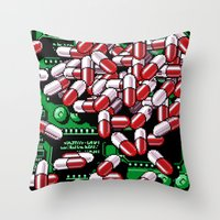 pills Throw Pillows featuring Pills by noirlac
