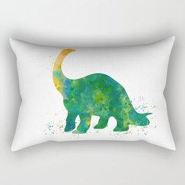 Watercolor Apatosaurus Dinosaur Wall Print Rectangular Pillow