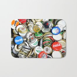 Bottle Caps Painting | Vintage Bath Mat