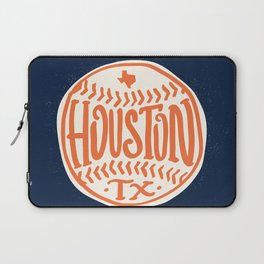 Hand Drawn Baseball for Houston Texas with custom Lettering Laptop Sleeve