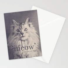 Famous Quotes #2 (anonymous cat, 1952) Stationery Cards