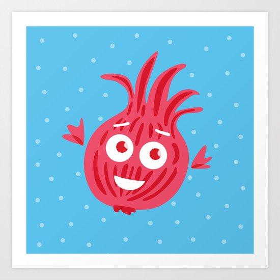 Cute Red Onion Art Print