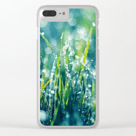 Morning Diamonds Clear iPhone Case
