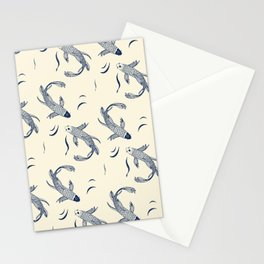 Japanese Koi Fish Pattern Stationery Cards