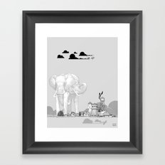 Store Toxic Waste at Home Framed Art Print