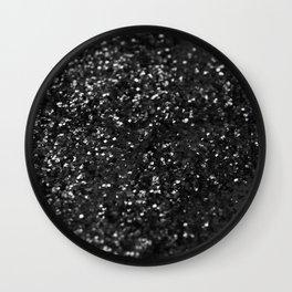 Black & Silver Glitter #1 #decor #art #society6 Wall Clock