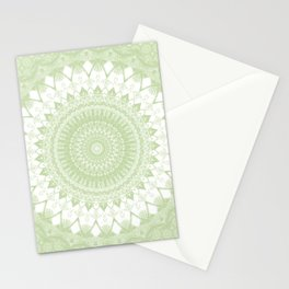 Boho Pastel Green Mandala Stationery Cards