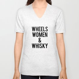 Wheels Women & Whiskey  Unisex V-Neck
