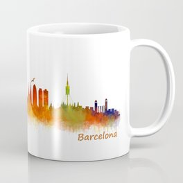 Barcelona City Skyline Hq _v2 Coffee Mug