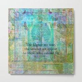 Nietzsche inspirational SOAR quote Metal Print