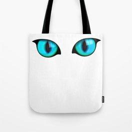 Halloween Glowing Eyes Cat Tote Bag