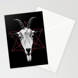 Satanic Goat | Occult Art Stationery Cards