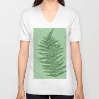 fern V-neck T-shirts featuring Fern by Mr and Mrs Quirynen