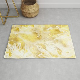 Golden Marble Abstract Rug