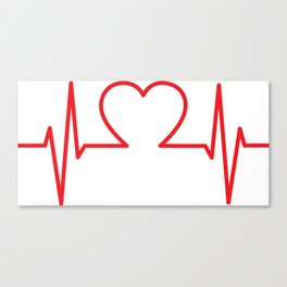 EKG Heart Canvas Print