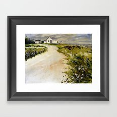 windswept coast Framed Art Print