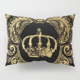 Gold Crown Pillow Sham