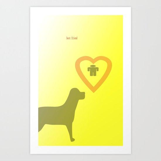 best friend Art Print