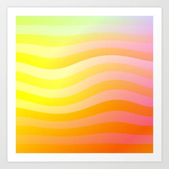 Evening Waves Art Print
