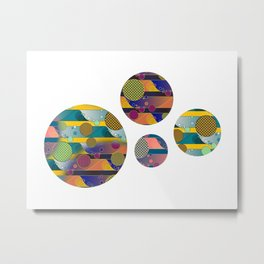 Endless Wave - Psychedelic Stripe Metal Print