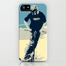 On the Rim - Scooter Boy iPhone Case
