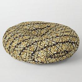 Sonoran Stripe - Midnight Gold Floor Pillow