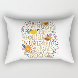 Folded Between the Pages of Books - Floral Rectangular Pillow