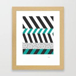 Geometry Lines Framed Art Print
