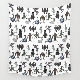 Cryptid Friends Wall Tapestry
