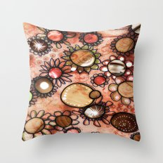 brown pattern Throw Pillow
