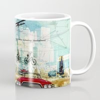 technology Mugs featuring  Transportation  technology by Design4u Studio
