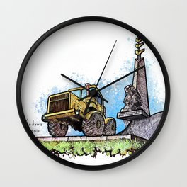Tselinograd and Tractor Wall Clock