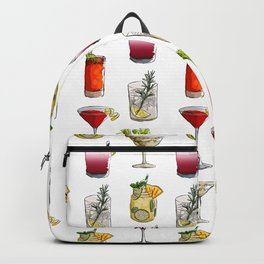 Classic Cocktails Pattern - Classic Cocktails series Backpack