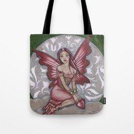 Raspberry Valentine Fairy Tote Bag