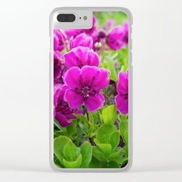 Beauty purple flowers Rhododendron camtschaticum Clear iPhone Case