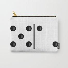 White Domino / Domino Blanco Carry-All Pouch