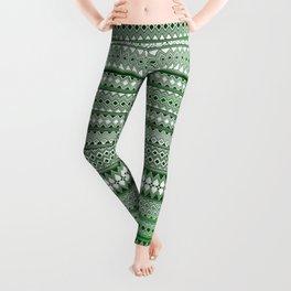 Tribality Green Texture Leggings