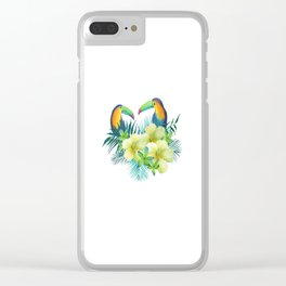 Tropical toucans Clear iPhone Case