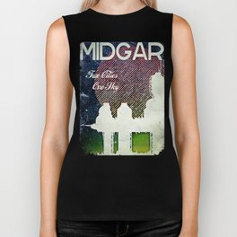 Final Fantasy VII - Midgar Tribute Poster *Distressed* Biker Tank