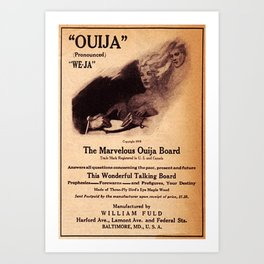 Ouija Board Ad Art Print