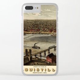 Map Of Louisville 1876 Clear iPhone Case