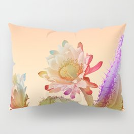 Peach Cactus Pillow Sham