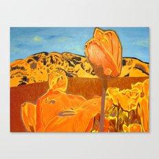 Orange Terrain Canvas Print