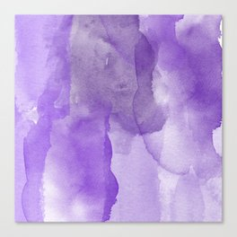 Ultra Violet Watercolor Canvas Print