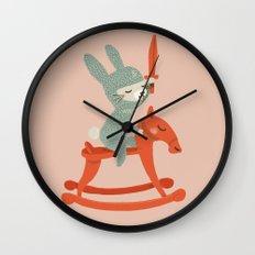 Rabbit Knight Wall Clock
