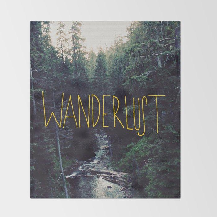 Wanderlust: Rainier Creek Throw Blanket