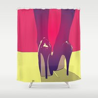 shoes Shower Curtains featuring Shoes by Giuseppe Cristiano